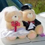 Свадебные мишки на машину