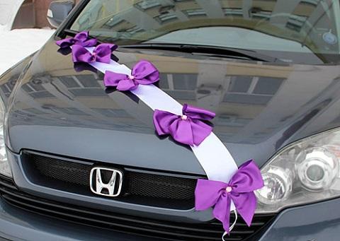 ленты на свадьбу на машину фото