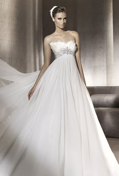 Свадебное платье для беременных: фото и модели