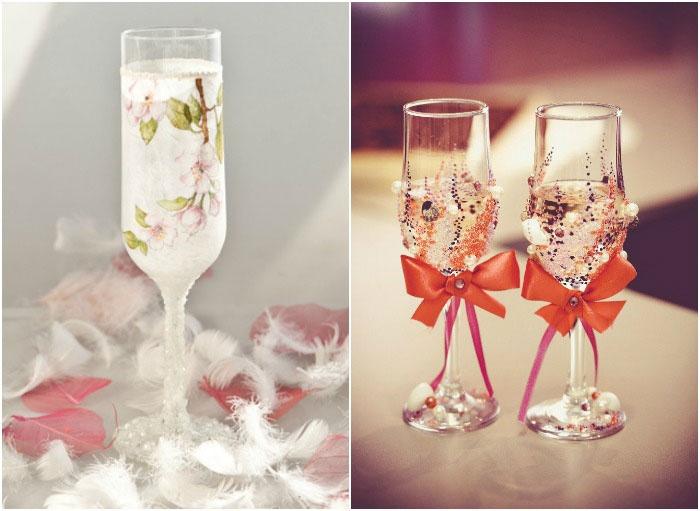 Сделать свадебные стаканы своими руками