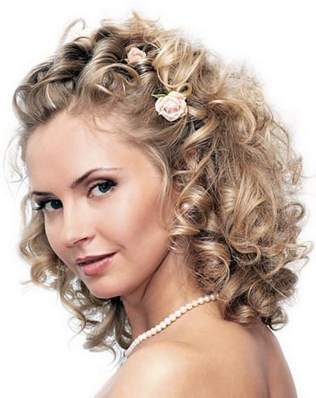 Свадебные прически на средние волосы фото распущенные