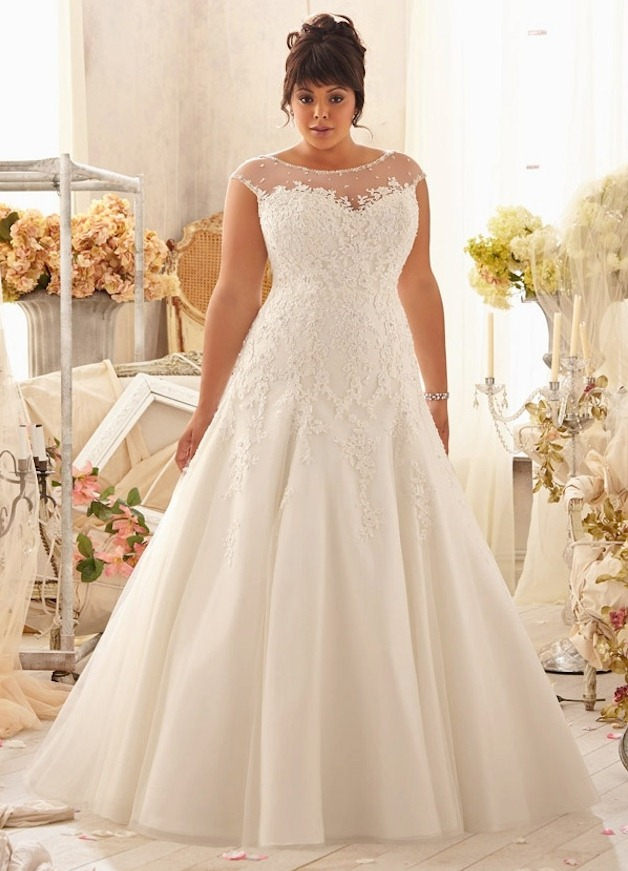 Фото свадебных платьев для толстых
