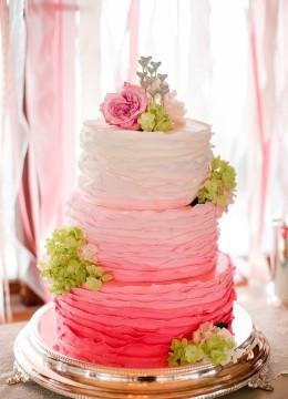 Двухъярусные свадебные торты без мастики