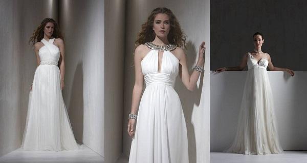 Стильное греческое платье