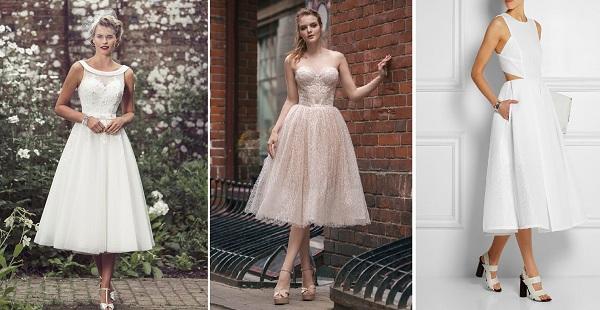 Платья миди на свадьбу