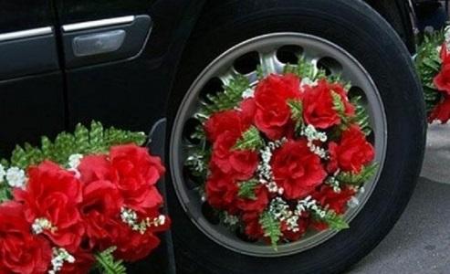 Цветы на колесные диски