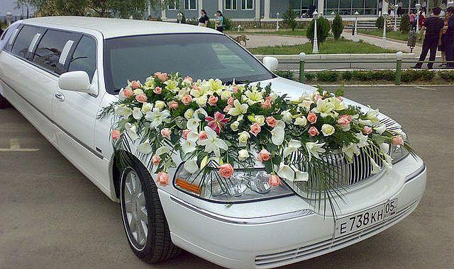 Цветы на капот машины