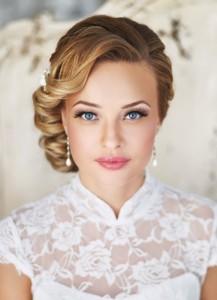 свадебные прически на среднюю длину волос