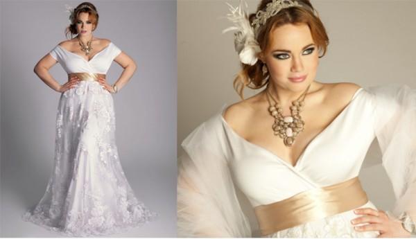 свадебное платье для полных невест фото