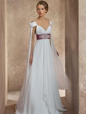 cfb075ece9a Свадебное платье в греческом стиле  фото длинных и коротких моделей