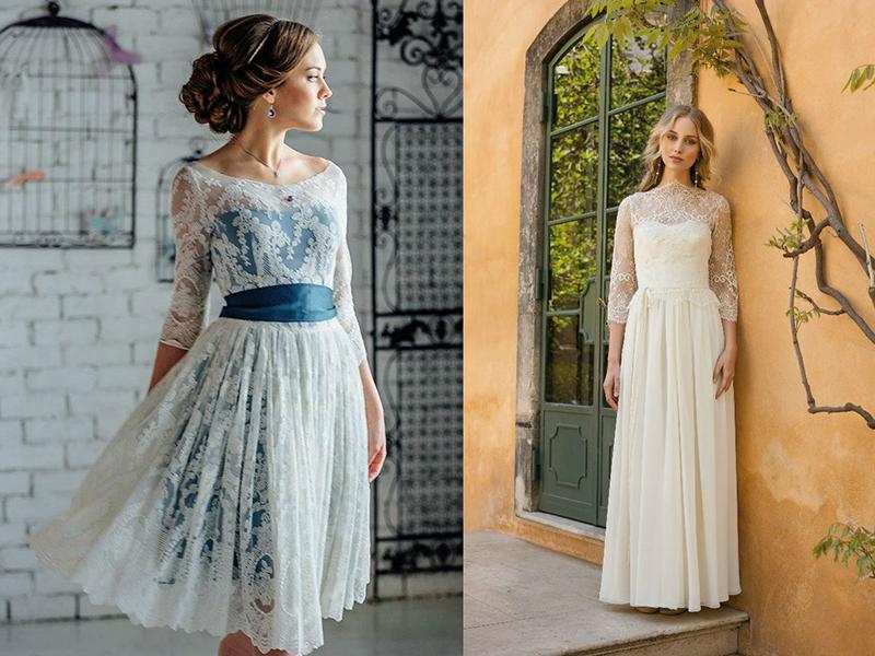 Не бойтесь выбирать цветное свадебное платье