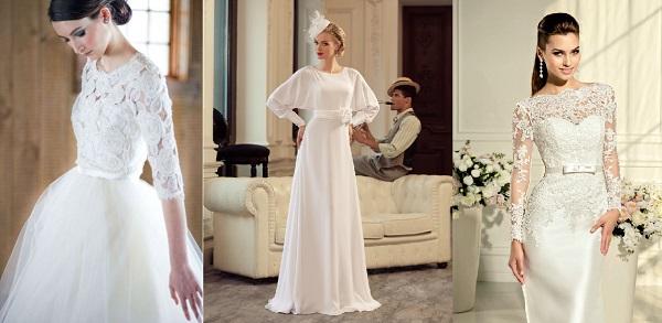 Элегантные платья с рукавами