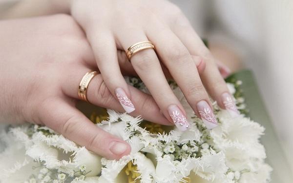 Свадебный маникюр фото для невесты